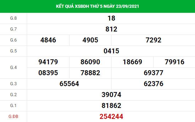 Phân tích XSBDH ngày 30/9 hôm nay thứ 5 chuẩn xác