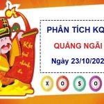 Phân tích KQXSQNG ngày 23/10/2021 chốt số Quảng Ngãi thứ 7